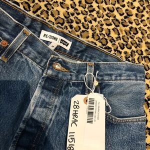 Nwt re/done jeans